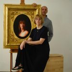Mila and Damir May with portrait