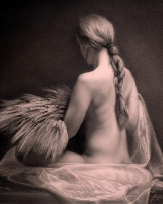 Ceres charcoal drawing by Damir May