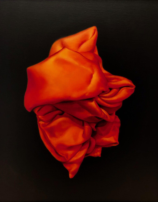 Orange oil painting by Damir May