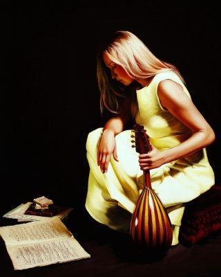 With Mandoline oil painting by Damir May
