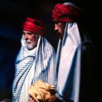Three wise men, detail of First Day by Damir May