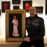 Damir May with painting Waiting for Helena